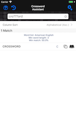 Screenshot - Crossword - One Word